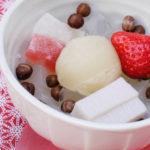 いちごとミルク餡のやさしい組み合わせ♡船橋屋『苺ミルクあんみつ』期間限定販売中♪