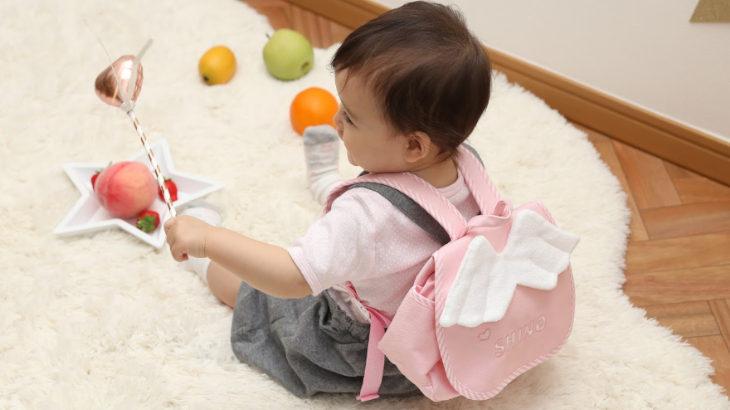 1歳のお誕生日に♪出産のお祝いに♪天使の羽がカワイイ『Naming天使のリュック』発売。名前も刺繍できちゃいます