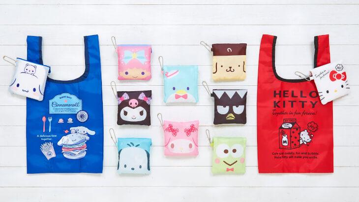 お気に入りのエコバッグを選んで♡サンリオキャラクターエコバッグ全20種が発売♪
