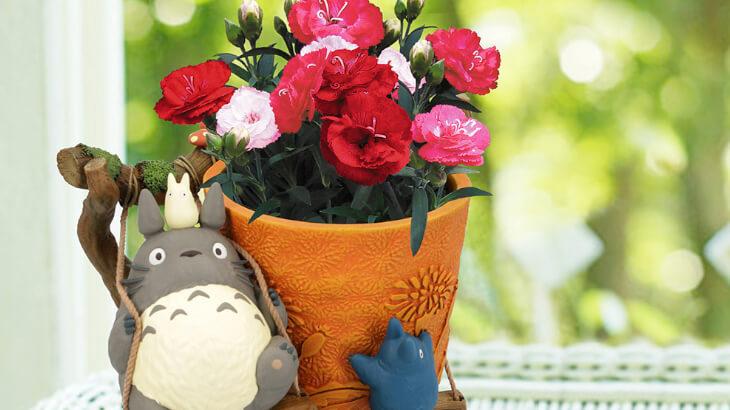 母の日に贈りたい♪ジブリのキャラクターのプランターカバーがかわいいフラワーギフト配送受付スタート♪