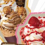 """GODIVAのソフトクリームを通常の約1.6倍使用した持ち歩けるパフェ""""メガパフェ""""が新発売♡"""