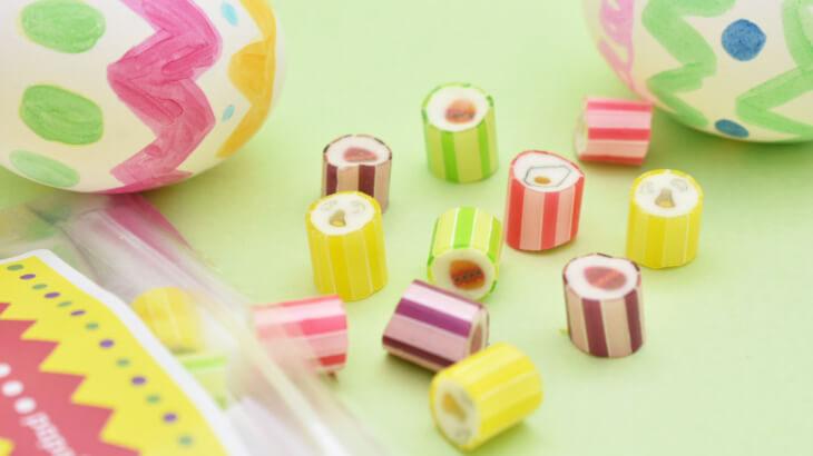 PAPABUBBLEでカラフルなたまごがデザインされたイースターデザインのキャンディが詰まったBAG発売中♪