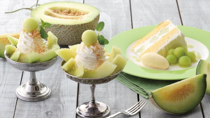キハチ カフェにてみずみずしいメロンや桃を贅沢に使った夏季限定スイーツが登場♪