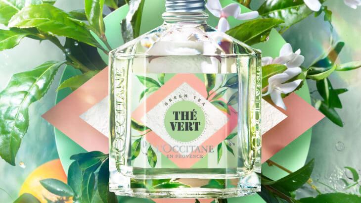 ロクシタンの新作は緑感じるグリーンティの香り。オードトワレやボディミルクでほっとするひと時を楽しんで