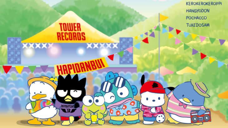 はぴだんぶい×TOWER RECORDSコラボグッズが7/22より発売。タキシードサム2ショット撮影会も!