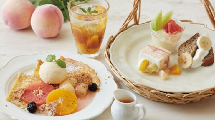 桃やメロンなどフルーツづくしのTEA&スイーツがアフタヌーンティー・ティールームにて7/30より販売スタート♪