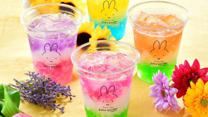 ミッフィーのドリンクスタンド『フラワーミッフィーjuice garden』浅草にオープン!カラフルなお花のドリンクが魅力♡