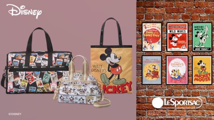 レトロかわいいミッキーデザイン♡レスポートサックからアメリカンクラシックなミッキーマウスとのコレクション発売!