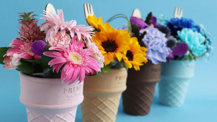 毎日過ごすお部屋を華やかに♡スイーツみたいなお花のブーケ『ICECREAM BOUQUET-アイスクリームブーケ-』発売スタート!