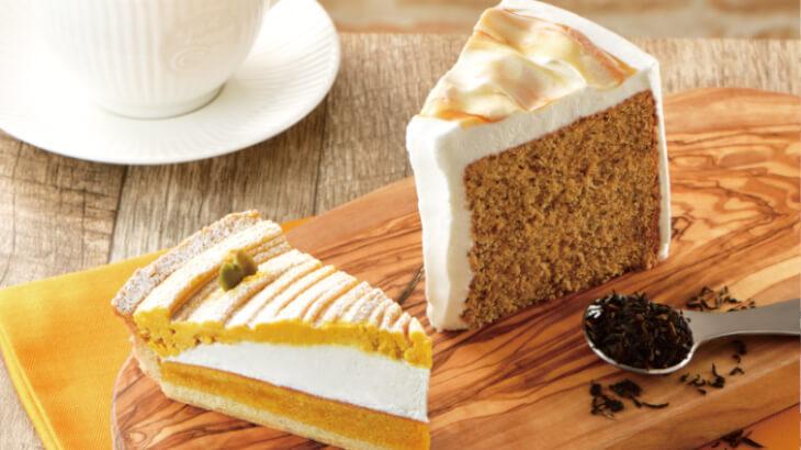 カフェ・ド・クリエ、秋のはじまりにぴったりな『かぼちゃのタルト』『紅茶のシフォンケーキ』が8/26より登場!