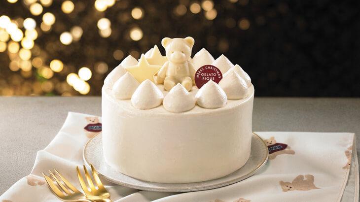 ジェラート ピケ初のクリスマスケーキが全国のセブンイレブンで予約注文実施中♪キュートなくまちゃんが乗った真っ白なクリスマスケーキを召し上がれ♡