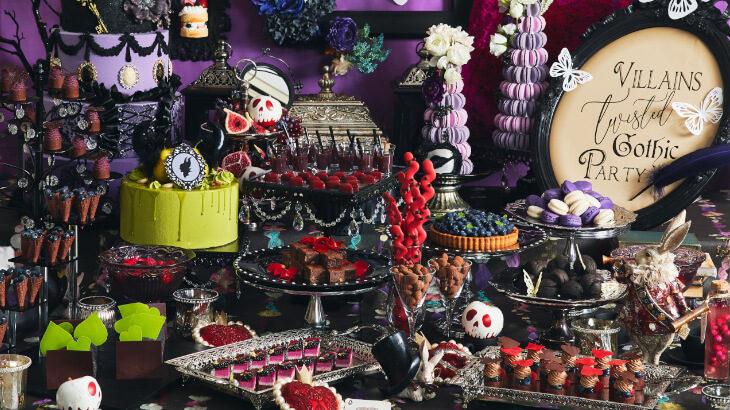 ホテル インターコンチネンタル 東京ベイ、ヴィランズをモチーフにしたスイーツブッフェ『ヴィランズたちのツイステッドゴシックパーティー ~Taste of autumn~』開催♪