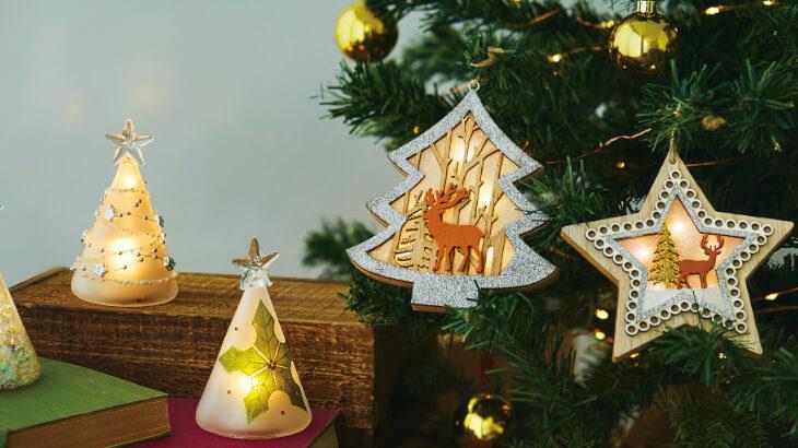 お好きな場所に置いてクリスマス気分を楽しめる♪暖かな光がかわいいクリスマスツリー型のライトが登場!