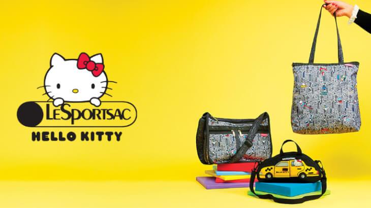 """レスポートサックがHello Kittyとコラボ!""""Hello Kitty×LeSportsac"""" コレクションが10/7より発売"""