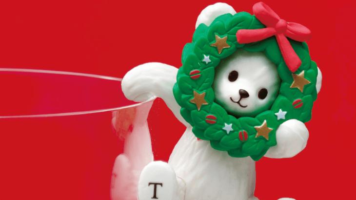 """タリーズコーヒー、クリスマスデザインの""""ふちベアフル""""登場♡リースをかぶったテディベアが可愛い♡"""