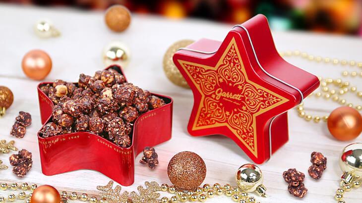 """星型のデザイン缶がカワイイ♡クリスマスにぴったりの新レシピ""""ココアヘーゼルナッツ""""が入った『Holiday Star』11/27新発売"""
