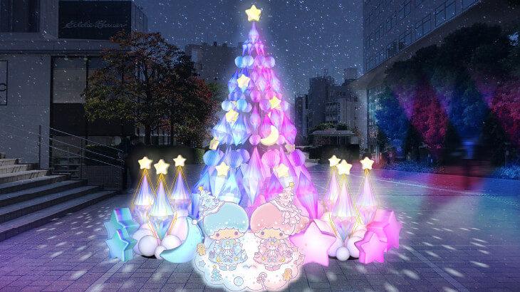【12/1〜12/25】クリスマスの思い出を作ろう♡新宿サザンテラスにキキ&ララカラーの巨大クリスマスツリーが登場!