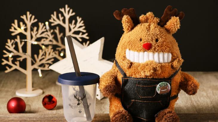 """THE ALLEYのクリスマスドリンクは、カリカリが特徴のケーキのようなスイーツドリンク♪初のクリスマスギフト""""ジアレイ・パパ""""も数量限定で発売"""