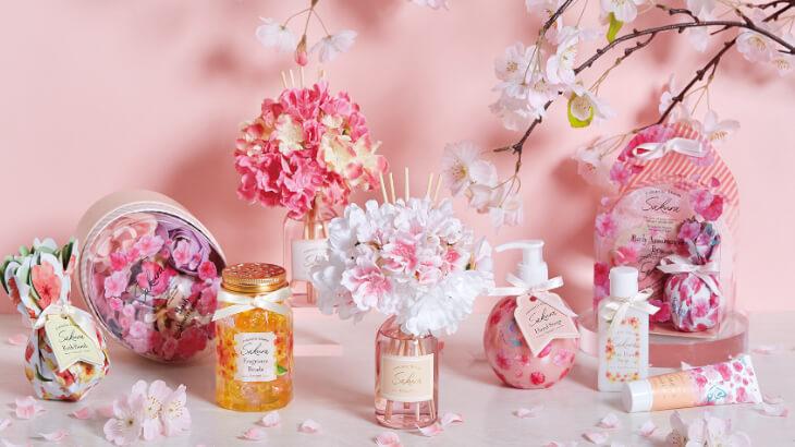 """華やかに香り咲く""""サクラ""""のフレグランスアイテムでおうちで手軽に春を感じて♪"""