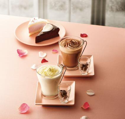 カフェ・ド・クリエにチョコレートドリンクやガトーショコラなどバレンタインシーズンにぴったりの新メニューが登場♪