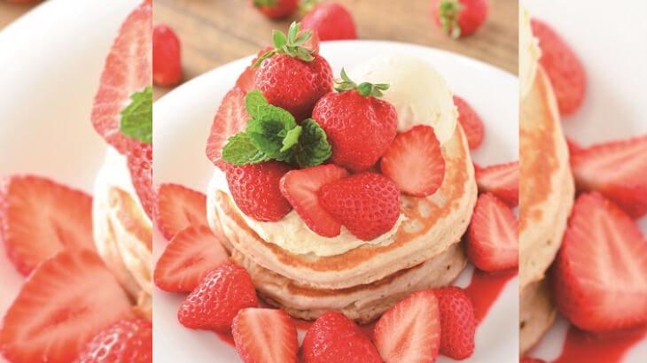 アロハテーブル、人気のハワイアン・パンケーキにあまおうを贅沢に使用した春限定の『あまおう苺のパンケーキ』3/15より登場♪