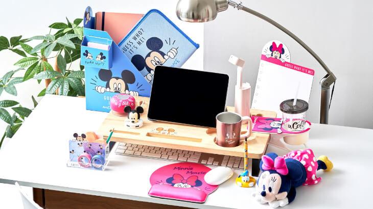 USBハブやマウスパッドなどリモート生活をかわいく彩る新シリーズ『with D』アイテムがディズニーストアに登場!