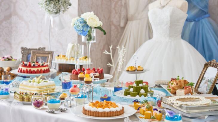 ヒルトン東京お台場、可愛いWeddingの世界観を表現したデザートビュッフェ『Girl's Sweets Wedding』