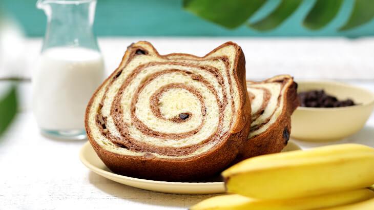 ねこねこ食パンの7月限定フレーバーは『トロピカルチョコバナナ』♪