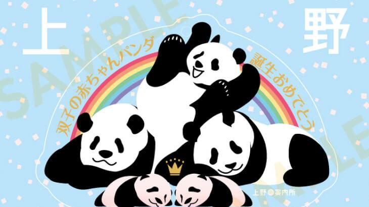 上野動物園にパンダの双子の赤ちゃんが誕生♡上野案内所で誕生祝いの新作グッズが発売♪