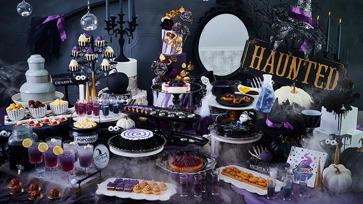 【9/18〜10/31】ザ ストリングス 表参道、ダークな魔女のハロウィンパーティーを表現したスイーツブッフェを開催